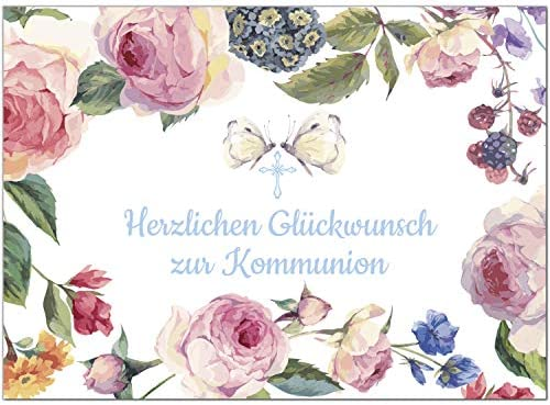 Comunión TARJETA DE felicitación con sobres/Mariposas en el ...