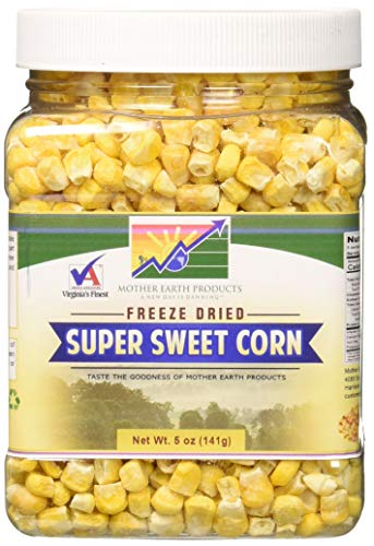 Dehydrated Sweet - Mother Earth Products Freeze Dried Corn, Super Sweet, Quart Jar