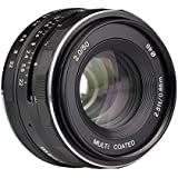 Meike 50mm f/2.0 Manual Focus Fixed Lens for Olympus M43 Digital Cameras ( EM1,M,M10,EP5,EPL3,PL5,PL6,PL7,PEN-7 etc)