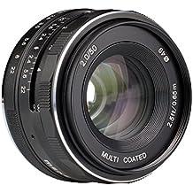 Meike 50mm f/2.0 Manual Focus Fixed Lens for Olympus M43 Digital Cameras ( EM1,M,M10,EP5,EPL3,PL5,PL6,PL7,PEN-7 etc)
