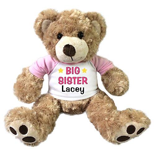 Personalized Big Sister Teddy Bear - 13 inch Honey Vera (Big Sister Teddy Bear)