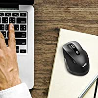 6 Buttons 2.4G Wireless Mouse Portable Mobile Optical Mouse with USB Receiver Black EPSKY A3 5 Adjustable DPI Levels