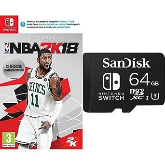 NBA 2K18 + SanDisk - Tarjeta microSDXC de 64 GB para ...
