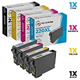 LD Products Remanufactured Ink Cartridge Replacement for Epson 220XL ( Black,Cyan,Magenta,Yellow , 4-Pack)