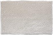 DiB TSS040-1000/108 Tapete de Baño, Shaggy Silk, 40X60 cm, Color Blanco