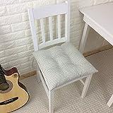 LJ&XJ Dining Chairs Cushion,Thickened Cushion Tatami Cushion Stripe Chair Pads Ties seat Cushion Dining Chair Office Seats Student Stool Hardwood Floors Japanese Style-A 40x40cm(16x16inch)