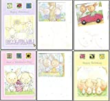 6 Assorted Childrens Birthday Cards for Girls. - We Also Have Birthday Cards Multipack/Christmas Cards Packs/Thank You Cards Multipack/Wholesale/Multipack