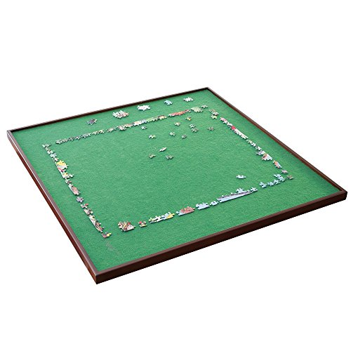 Bits and Pieces - Square Jigsaw Puzzle Spinner - Puzzle Accessories- Lazy Susan Puzzle Table Surface Fits 1500 pc Puzzles - Spin Puzzle to Reach Sections You Need by Bits and Pieces (Image #1)