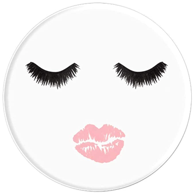 Amazon.com: Lashes Lips Sexy Face Nude Pink Lipstick MUA Makeup Artist - PopSockets Grip and Stand for Phones and Tablets: Cell Phones & Accessories
