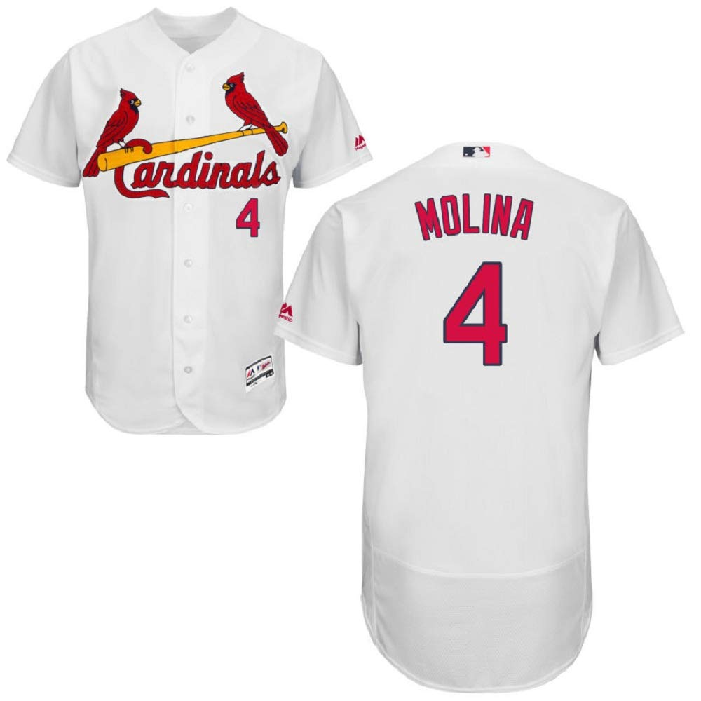 sports shoes 0aed6 b4c23 St. Louis Cardinals Majestic Home Flex Base Authentic Collection Yadier  Molina Jersey-White
