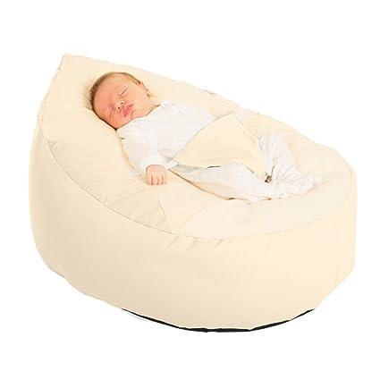Cool Rucomfy Luxury Cuddle Soft Gaga Baby Bean Bag Natural Machost Co Dining Chair Design Ideas Machostcouk
