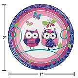 Owl Pal Birthday Dessert Plates, 24 ct