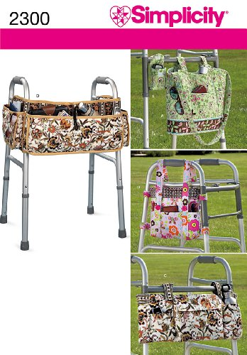 Pattern Accessories (Simplicity Pattern 2300 Adult Walker Accessories, Multiple Styles)