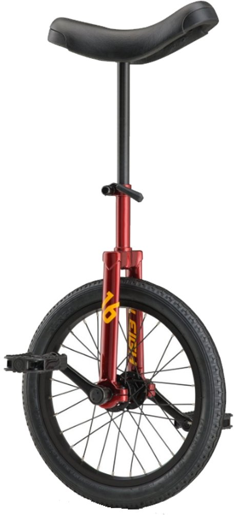RALEIGH Unistar 16, 16inch Wheel Unicycle, Red