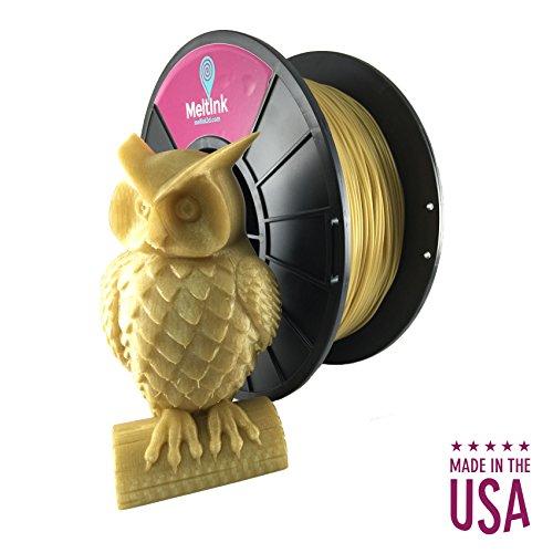 MeltInk 3D Printer Filament PLA 1.75mm 1Kg for any 3D Printer (Gold)
