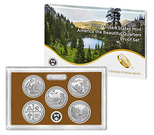 2019 S United States Mint America the Beautiful Quarters Proof Set Original Mint Packaging ()
