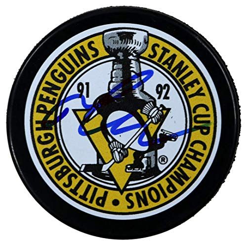 Mario Lemieux Pittsburgh Penguins Signed Autographed Penguins Stanley Cup Champions Hockey Puck COA ()
