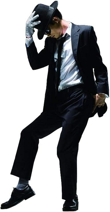 Space Dance Cos Adecuado para fanáticos de Michael Jackso Kid Adulto Traje de Cosplay 6pcs Michael Jackso Traje Peligroso Chaqueta + Pantalones + Camisa Blanca + Sombrero + Tie + Guantes(Right: Amazon.es: