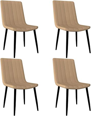 LucaSng Set di 4 Sedie da Pranzo Moderno Ergonomico,Sedia