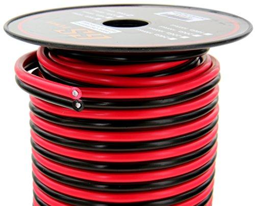 10 gauge copper clad aluminum 50 39 red 50 39 black bonded. Black Bedroom Furniture Sets. Home Design Ideas