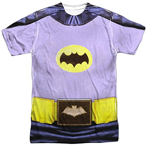Batman Classic TV - Batman Costume T-Shirt Size (Mens Batman Costume T-shirt)