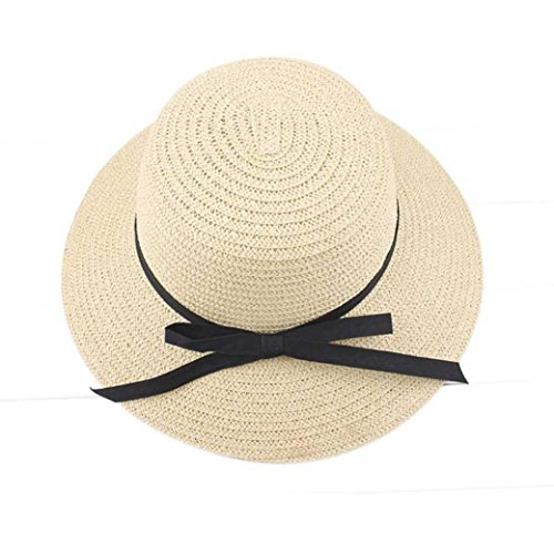 Brimmed Cloche (Kemilove Women Summer Sun Hat Beach Straw Hat (Off white))