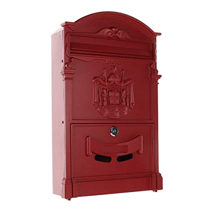 Historische Baustoffe Briefkasten Wandbriefkasten Alu Nostalgie Postkasten Braun Antik Stil Letterbox Hochwertige Materialien