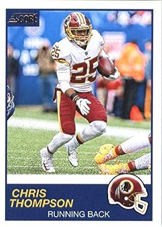 c86a7030a14 Amazon.com: 2019 Score #198 Chris Thompson Redskins NFL Football ...