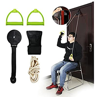 REAQER Shoulder Exercise Pulley Over Door Rehab Exerciser for Frozen Shoulder Arm Rehabilitation