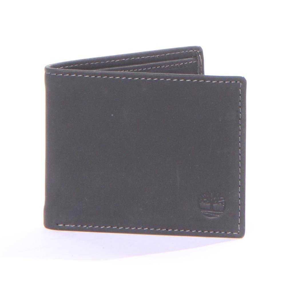 Timberland Men's Boot Leather Passcase Wallet Black One Size
