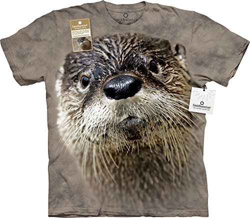 North American River Otter T-Shirt-S Grey