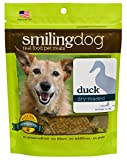 Herbsmith Smiling Dog Treats – Dry Roasted Duck – That's 100% it – Gluten + Grain Free – Made in USA – 3 Ounce