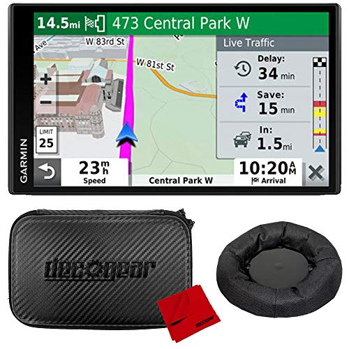 Garmin DriveSmart 65 & Traffic 6.95 Display GPS Navigator with Case and Mount Bundle