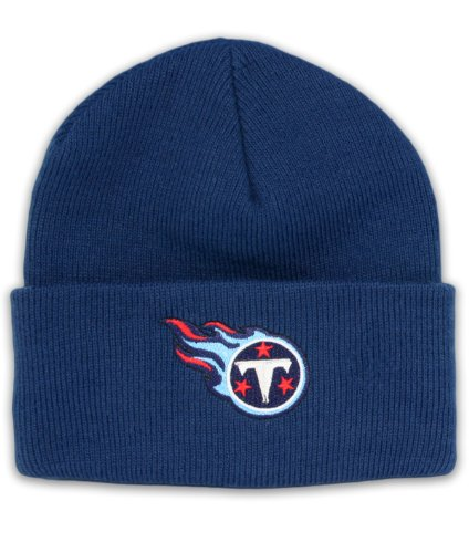 Tennessee Titans Nfl End - NFL End Zone Cuffed Knit Hat - K010Z, Tennessee Titans, One Size Fits All