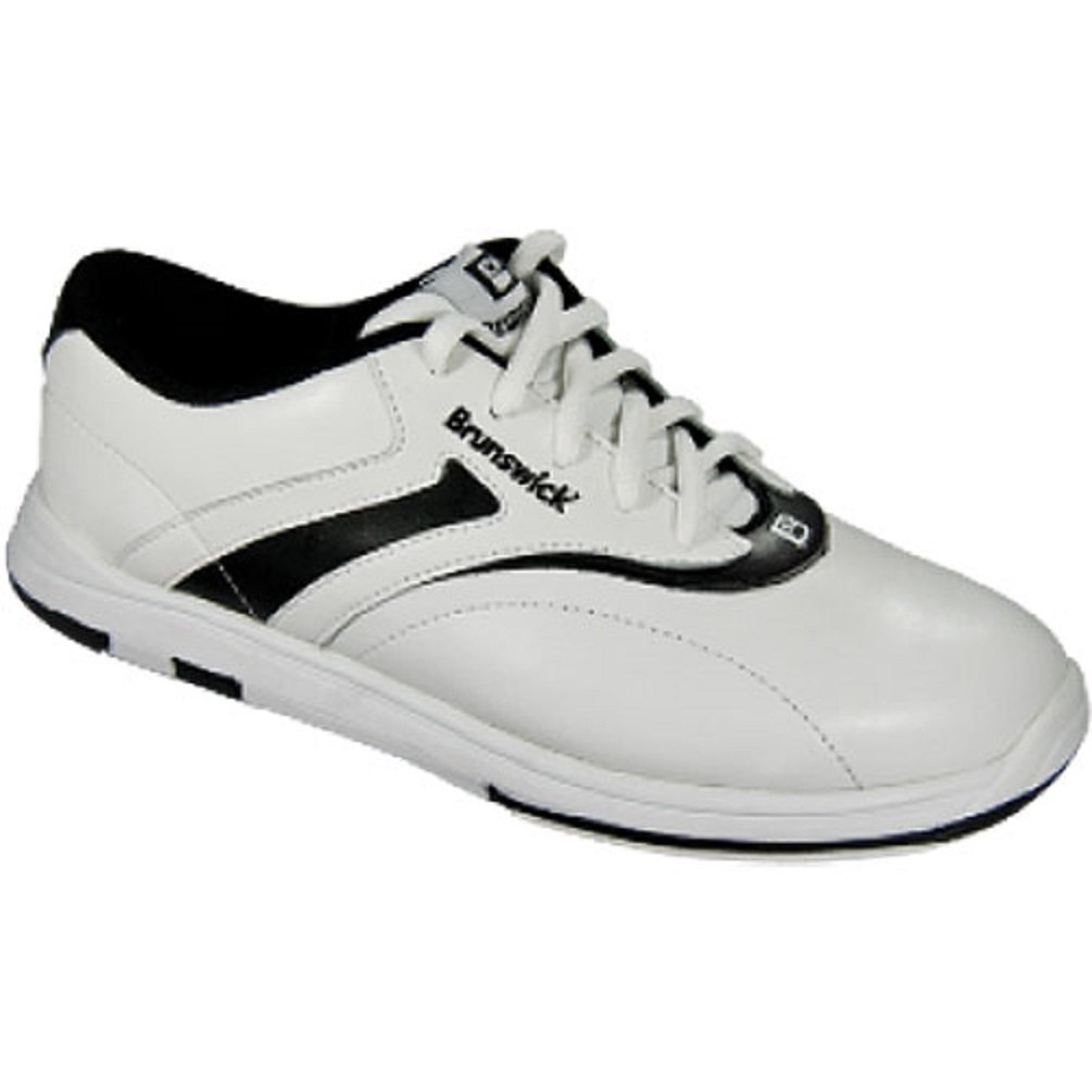 Brunswick Women's Silk Bowling Shoes, White/Black, 11 L-003-110
