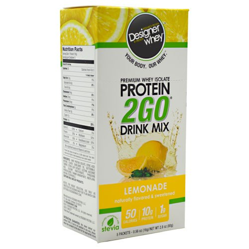 Designer Whey Protein 2GO Drink Mix Lemonade - 5 paquets