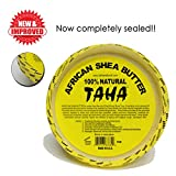 Taha African Shea Butter Cream (100% Pure & Raw, Gold) 8 oz