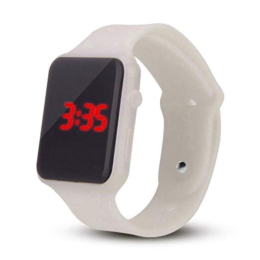 Yivise Unisex Digital LED Reloj Deportivo Banda de Silicona Hombres Niños Adultos Moda Relojes de Pulsera