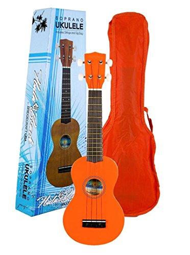 Hula Beach Junior Orange Quality Hawaiian Theme Ukulele S...
