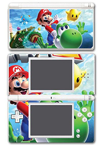 Super Mario Galaxy 2 Yoshi Flying Star Video Game Vinyl Decal Skin Sticker Cover for Nintendo DS Lite System (Nintendo Lite Ds Stickers)