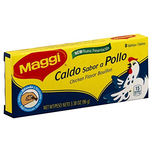 Maggi Caldo Pollo (Chicken Bouillon) 3.38 OZ(Pack of 3)