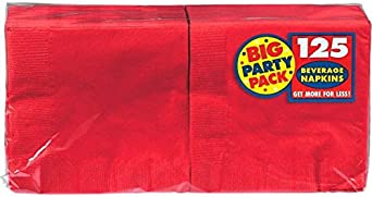 Amscan Big Party Pack 125 Count Beverage Napkins, Gold Kitchen Tools at amazon