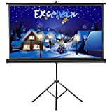 Projector Screen with Foldable Stand Tripod, Excelvan Portable 100