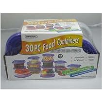 30 PC Plastic Container Set/Shrink Wrap - Purple Case Pack 12 30 PC Plastic Container Set/Shrink Wr