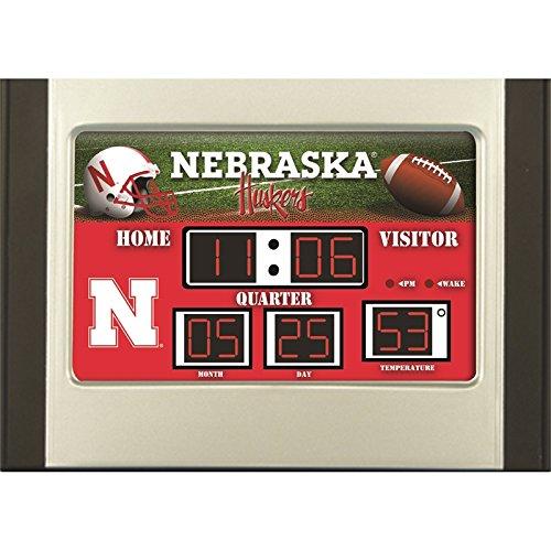 Evergreen Enterprises NCAA Nebraska Cornhuskers Desk and Alarm, Team Colors, One -