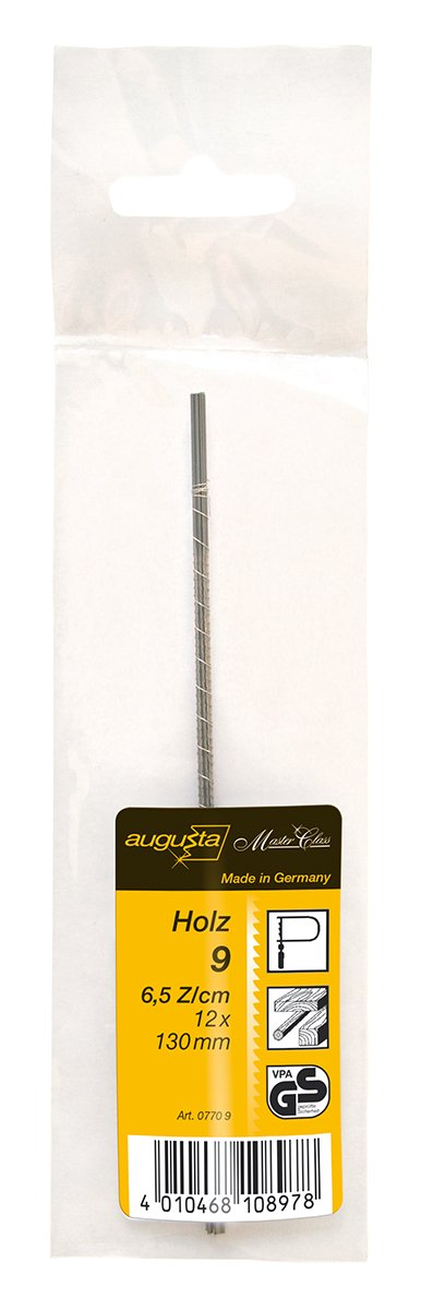 Augusta Laubs/äge-Ersatzbl/ätter 12 St/ück 9 grob 130 mm f/ür Holz No 0770 9 AMA