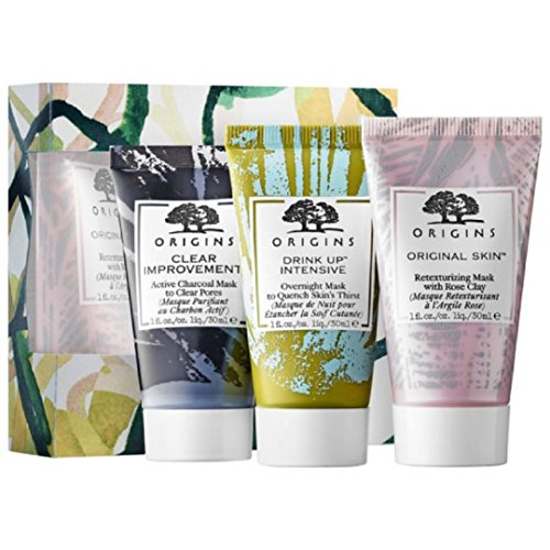 Origins Clear, Hydrate & Control set of 3 Facial Mask ()