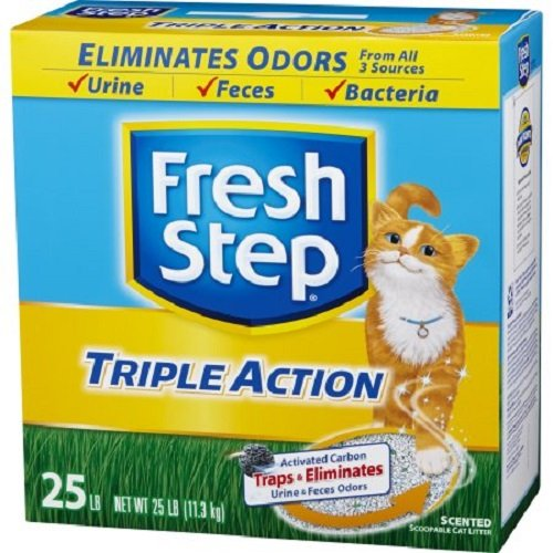 fresh-step-triple-action-clumping-cat-litter-scented-25-pounds-4-pack