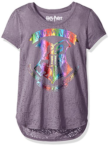 Harry Potter Big Girls' Fashion T-Shirt Shirt, Smoking Grey, Medium