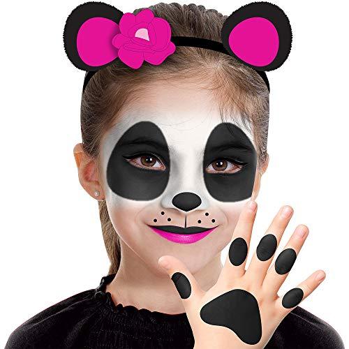 Almar Sales Company INC Panda Makeup Kit for Kids, Halloween Makeup, 8 Pieces ()
